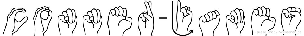 Conner-James im Fingeralphabet der Deutschen Gebärdensprache