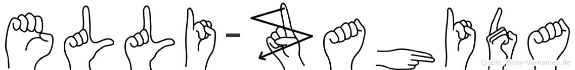 Elli-Zahida im Fingeralphabet der Deutschen Gebärdensprache