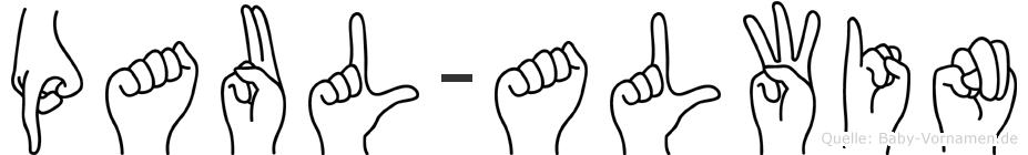 Paul-Alwin im Fingeralphabet der Deutschen Gebärdensprache