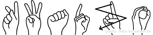 Kwadzo im Fingeralphabet der Deutschen Gebärdensprache