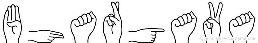 Bhargava im Fingeralphabet der Deutschen Gebärdensprache