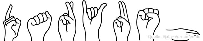 Daryush im Fingeralphabet der Deutschen Gebärdensprache
