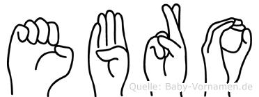 Ebro in Fingersprache für Gehörlose