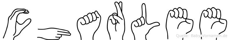 Charlee in Fingersprache für Gehörlose