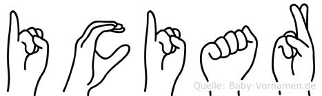 Iciar in Fingersprache für Gehörlose