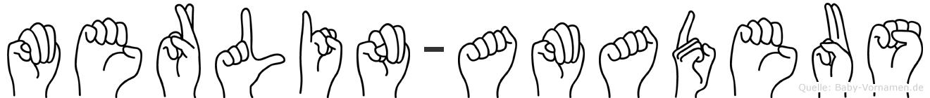 Merlin-Amadeus im Fingeralphabet der Deutschen Gebärdensprache