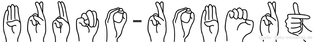 Bruno-Robert im Fingeralphabet der Deutschen Gebärdensprache