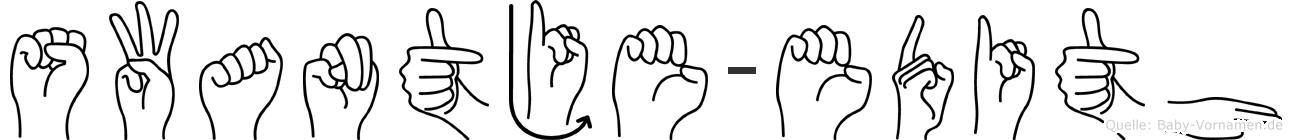 Swantje-Edith im Fingeralphabet der Deutschen Gebärdensprache