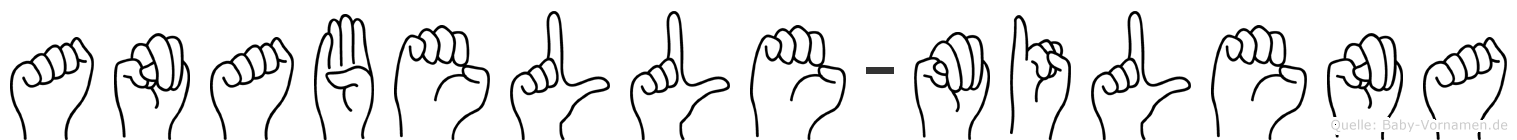 Anabelle-Milena im Fingeralphabet der Deutschen Gebärdensprache