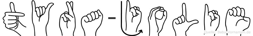 Tyra-Jolie im Fingeralphabet der Deutschen Gebärdensprache