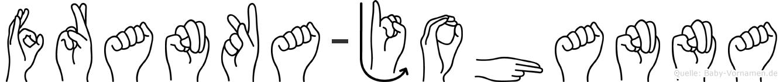 Franka-Johanna im Fingeralphabet der Deutschen Gebärdensprache