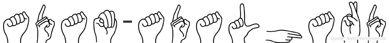 Adam-Adalhard im Fingeralphabet der Deutschen Gebärdensprache