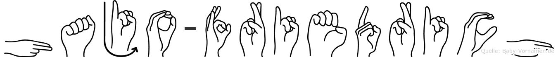 Hajo-Friedrich im Fingeralphabet der Deutschen Gebärdensprache