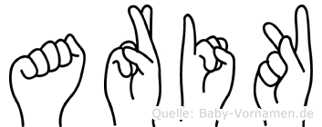 Arik im Fingeralphabet der Deutschen Gebärdensprache