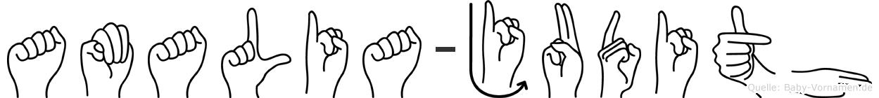 Amalia-Judith im Fingeralphabet der Deutschen Gebärdensprache