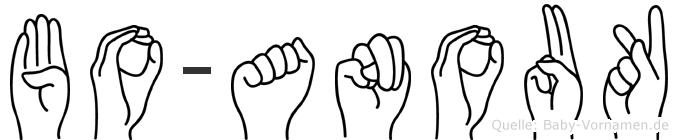 Bo-Anouk im Fingeralphabet der Deutschen Gebärdensprache