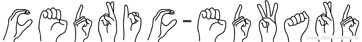 Cedric-Edward im Fingeralphabet der Deutschen Gebärdensprache