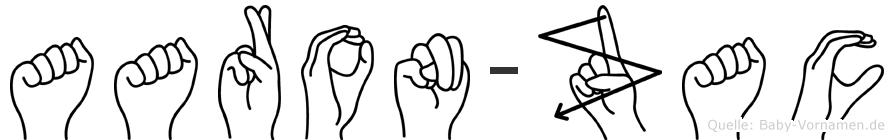 Aaron-Zac im Fingeralphabet der Deutschen Gebärdensprache
