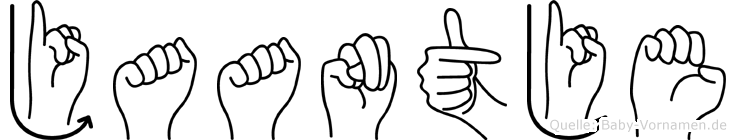 Jaantje im Fingeralphabet der Deutschen Gebärdensprache