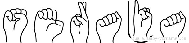 Seraja in Fingersprache für Gehörlose