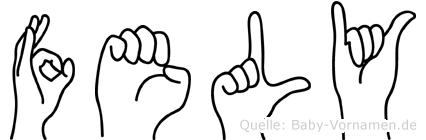 Fely im Fingeralphabet der Deutschen Gebärdensprache