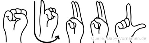 Sjuul im Fingeralphabet der Deutschen Gebärdensprache