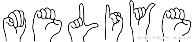 Meliye in Fingersprache für Gehörlose