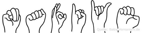 Nafiye im Fingeralphabet der Deutschen Gebärdensprache