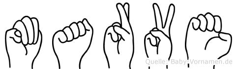 Marve in Fingersprache für Gehörlose