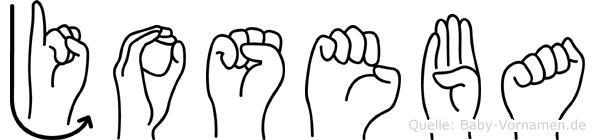 Joseba im Fingeralphabet der Deutschen Gebärdensprache