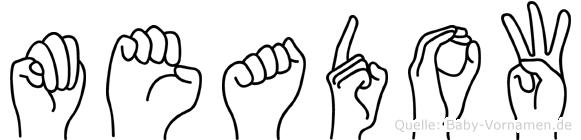 Meadow in Fingersprache für Gehörlose