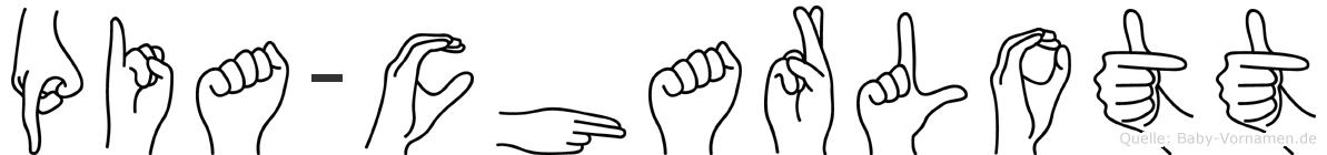 Pia-Charlott im Fingeralphabet der Deutschen Gebärdensprache