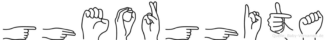 Gheorghita im Fingeralphabet der Deutschen Gebärdensprache