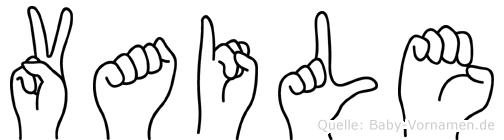 Vaile im Fingeralphabet der Deutschen Gebärdensprache