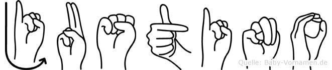 Justino in Fingersprache für Gehörlose