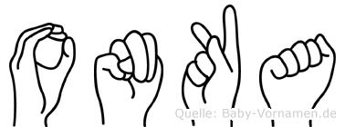 Onka im Fingeralphabet der Deutschen Gebärdensprache
