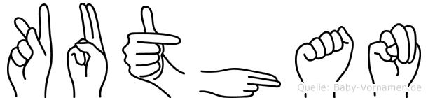 Kuthan im Fingeralphabet der Deutschen Gebärdensprache