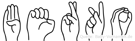 Berko in Fingersprache für Gehörlose