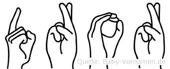 Dror im Fingeralphabet der Deutschen Gebärdensprache