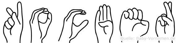 Kocber in Fingersprache für Gehörlose