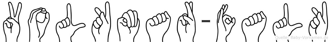 Volkmar-Falk im Fingeralphabet der Deutschen Gebärdensprache