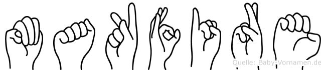 Makfire in Fingersprache für Gehörlose