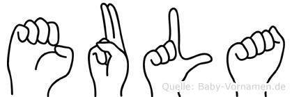 Eula in Fingersprache für Gehörlose