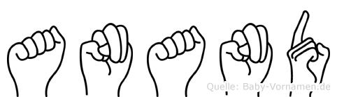 Anand im Fingeralphabet der Deutschen Gebärdensprache