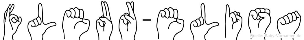 Fleur-Elisa im Fingeralphabet der Deutschen Gebärdensprache