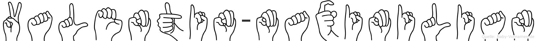 Valentin-Maximilian im Fingeralphabet der Deutschen Gebärdensprache