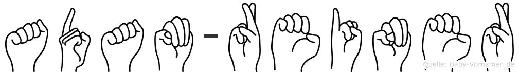 Adam-Reiner im Fingeralphabet der Deutschen Gebärdensprache