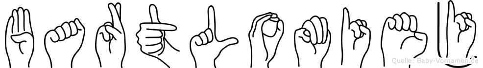 Bartlomiej im Fingeralphabet der Deutschen Gebärdensprache