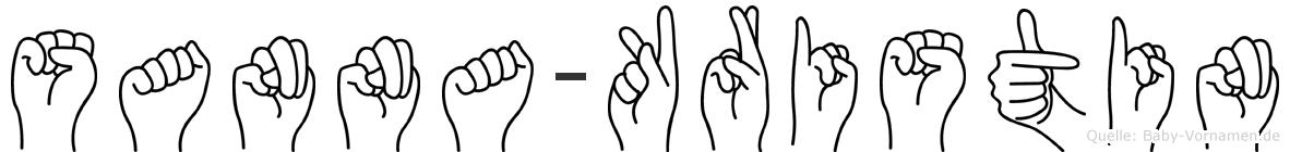 Sanna-Kristin im Fingeralphabet der Deutschen Gebärdensprache