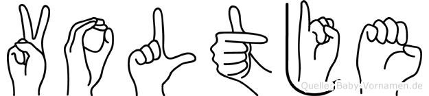 Voltje in Fingersprache für Gehörlose